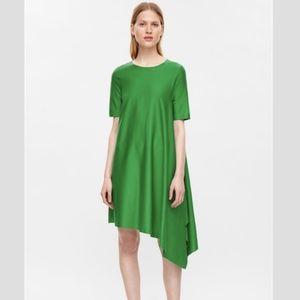 COS Asymmetrical Hem T Shirt Jersey Dress S